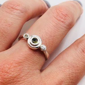 Jewelry - Sterling silver 925 peridot minimalist ring